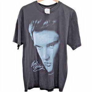 H109 Vintage Gildan Elvis Presley Shirt Large